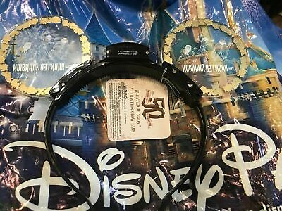 Disney Haunted Mansion 50th Anniversary Minnie Mouse Ear Hat Headband In Hand