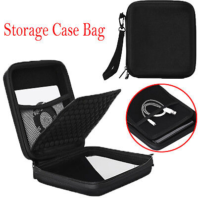 EVA Travel Carry Case Bag Storage Pouch for CD DVD Blu-ray & External Hard Drive