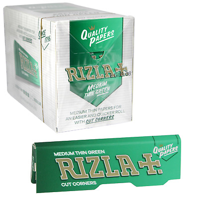 RIZLA REGULAR GENUINE GREEN Cigarette Rolling Papers ORIGINAL Fast Free Delivery