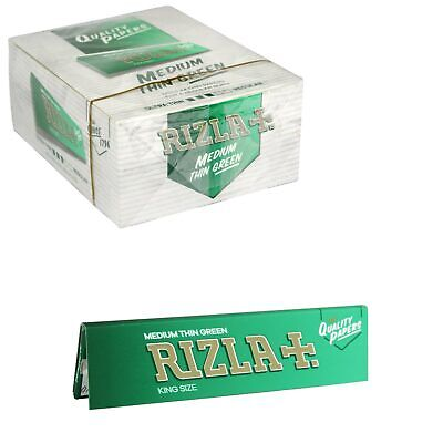 RIZLA GREEN KING SIZE SLIM GENUINE Rolling Papers ORIGINAL *Fast Free Delivery*