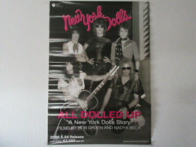 All Doled Up New York Dolls Story Japan Promo Poster Johnny Thunders Sylvain