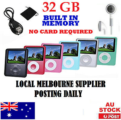 """32GB Portable MP3 MP4 iPod Style 1.8"""" Music Video Media Player With FM Radio"""