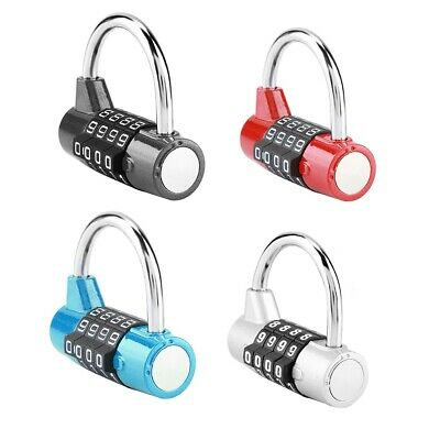 Security 4 Digit Combination Padlock Travel Suitcase Luggage Bag GYM Code Lock