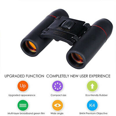 30 x 60 Zoom Mini Compact Binoculars Telescopes Day And Night Foldable F
