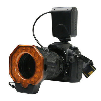 Macro 32 LED Ring Flash Light With Adapter Rings for Nikon Canon DSLR Camera