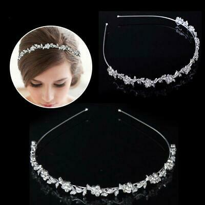Crystal Rhinestone Wedding Bridal Diamante Tiara Headband Hair Band Clasp G