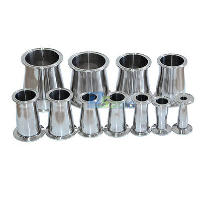 """3/4""""-4"""" 19mm to 102mm  Sanitary Ferrule Reducer Fitting SS316 to Tri Clamp"""