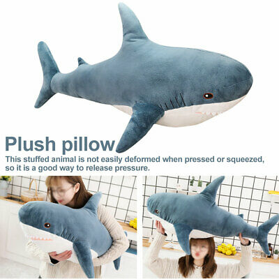 Kids Soft Big Plush Toy  Stuffed Cushion Relaxing Cushion Big Shark Stuffed Toy