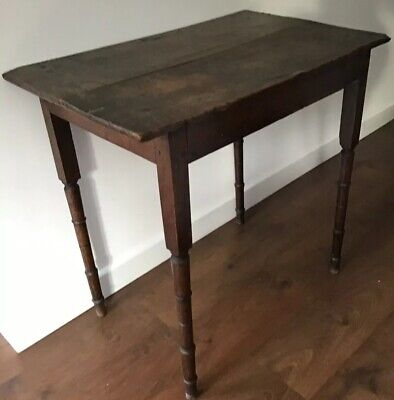 Antique 18th.c. Country Oak, 2 Plank, Side Table / Hall Table
