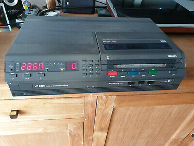 PHILIPS VR2324 Video2000 VCC V2000 Video Cassette Recorder Working
