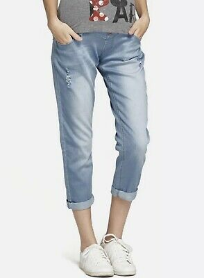 Mamaway Ripped Maternity Boyfriend jeans size S / 10 AU - Light blue