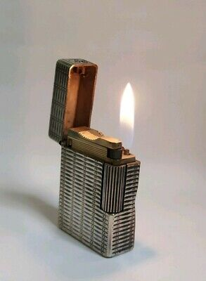 Accendino lighter Dupont L1 small placcato argento.
