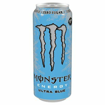 Monster Energy Ultra Blue 12 x 500ml Zero Sugar and Calorie Free Delivery UK