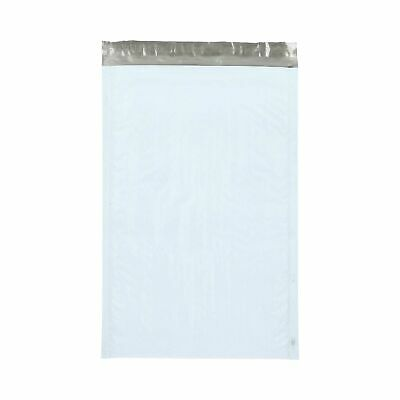 "Poly Bubble Mailer (#3) 8.5"" x 14.5"" White/Grey Padded Self Seal Bags 100 Pieces"
