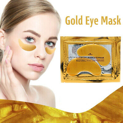 Premium Collagen Crystal Eye Masks Anti Ageing Skin Care Moisturising Gold Mask