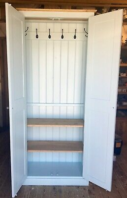 Hall Storage Cupboard with Coat Hooks & Shelves - Various Sizes