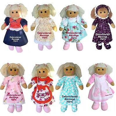 Personalised Large Rag Doll Birthday New Baby Flower Girl Christmas Christening