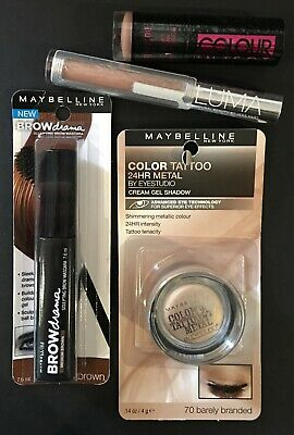 FOUR Neutral Make-up Items by Maybelline, Australis & LUMA NEW in Sealed Packets