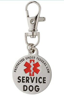 K9King Double Sided Service Dog Small Breed Federal Protection Tag