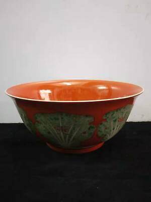 Exquisite Chinese Antiques Porcelain Hand-painted Cabbage Bowl Marks KangXi