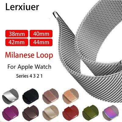 Strap For Watch band 4 44mm 40mm iwatch band 42 38mm Milanese Loop