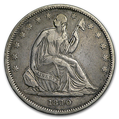 1840 Liberty Seated Half Dollar XF Small Letters (Rev of 1839) - SKU#170842