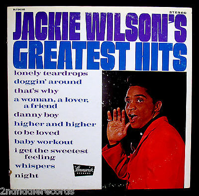 JACKIE WILSON-GREATEST HITS-Rare Promotional Soul Album-BRUNSWICK #BL 754140