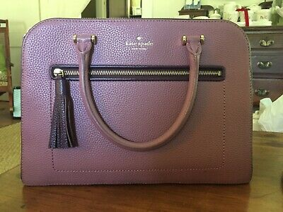 Kate Spade Kalen Chester Street Satchel Rich Rum and Mahogany
