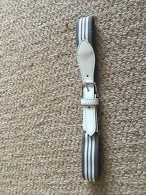 Childrens Grey and White Elasticated Belt Size 24 Inches River Island Brand New