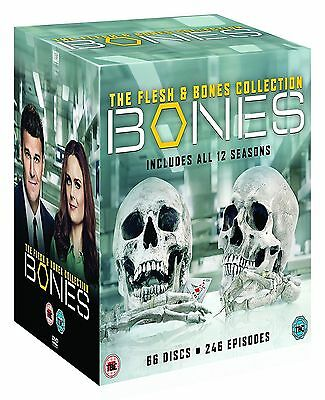 Bones Seasons 1-12 Complete Dvd Box Set Series New Flesh Collection