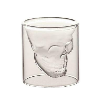Whiskey Tequila Shot Glass Fun Creative Skull Shape Drinking Cup Beer Wine U5G2