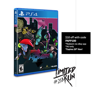Hover PS4 Playstation 4 Limited Run Games #283 LRG 1500 WW Brand New Sealed
