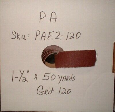 "1 1/2"" X 50 Yards 120 Grit Prod.Abrasive Emery Cloth Rolls  #PAE2-120"