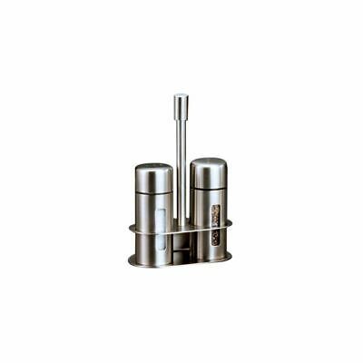 American Metalcraft SP6 Round S/S Salt And Pepper Shaker Set w/ Base