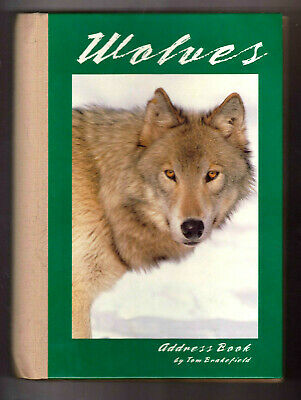 """Wolves Address Book by Tom Brakefield ~ UNUSED ~ Wolf Photography ~ 9.5X7"""""""