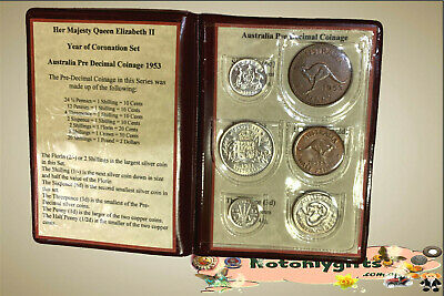 1953 Australian Pre-Decimal coin set – Year of Coronation Set