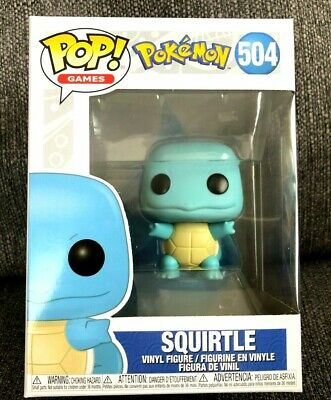 Funko Pop! Games Poke' Mon SQUIRTLE # 504 Vinyl Figure On Hand  NEW