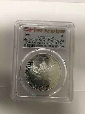 2019 Pride of Two Nations Maple Leaf PR69 PCGS First Day US Set IN HAND