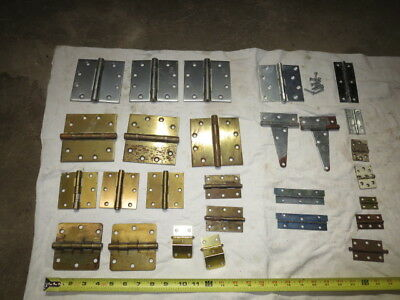 Vintage Brass and Steel Hinges LOT OF 28 Items