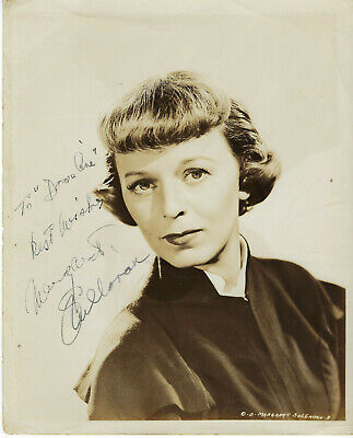 Film $ Stage Actress Margaret Sullavan , Autographed Vintage Studio Photo