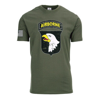 101st Airborne Paratrooper D-Day T-Shirt Vintage US Army Air Force Pilots Navy