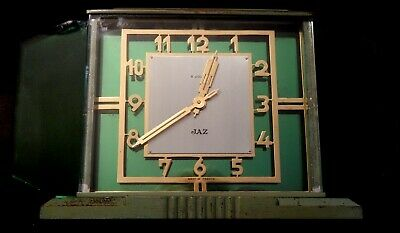 Vintage 1930'S Art Deco French Paz 8 Day Clock-Working, Very Quiet-Excellent
