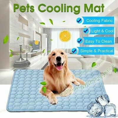 Pet Cooling Mat Cool Gel Pad Comfortable Cushion Bed for Dog Cat Puppy CA STOCK