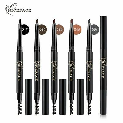 Natural Double Head with Brush Brow Tint Eyebrow Pencil Automatic Rotate