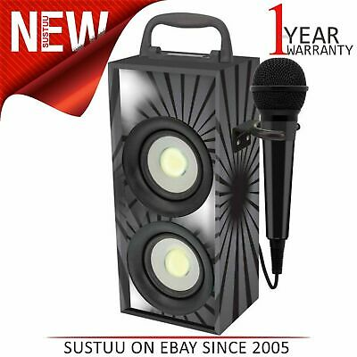 Lexibook iParty Mini Bluetooth Karaoke with Microphone│4W RMS│DEL Light│Black│