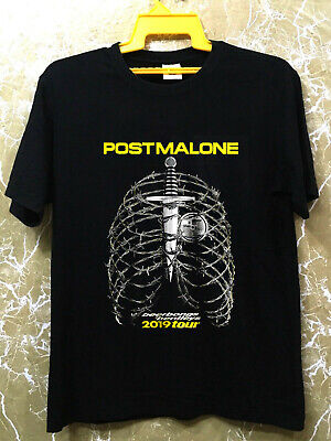 POST MALONE 2019 Euro Tour Merch Beerbongs & Bentleys Rap T