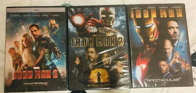 Iron Man Trilogy DVD 1 2 3 Collection Free Shipping