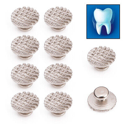 50x Dental Orthodontic Ortho Lingual Buttons Bondable Round Mesh Base Stainless