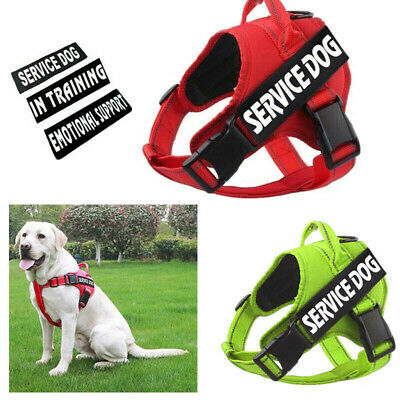 Service Dog Harness Puppy No Pull Safety Reflective Training Control Pet Vest