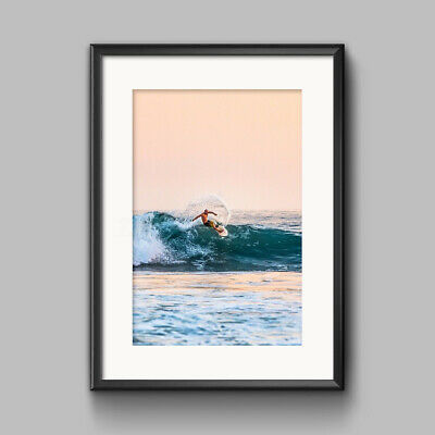 Ocean Sea Waves Nordic Poster Wall Art Canvas Print Seascape Picture Decor US